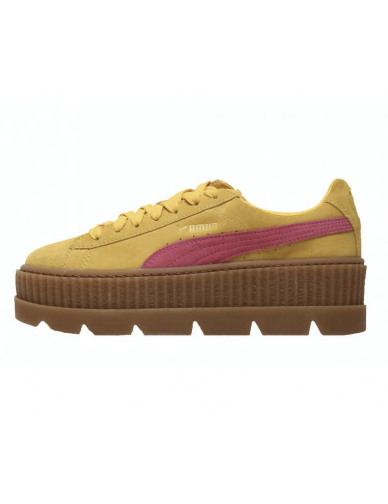 pretty nice 0137d ad14e Puma Fenty Suede Cleated Creeper Camel