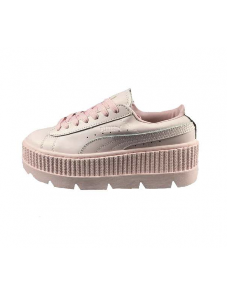 big sale d355a 40a3c Puma Fenty Suede Cleated Creeper Rosas